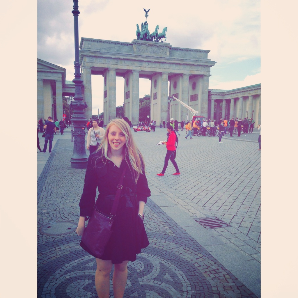 The Mrs at The Brandenburg Gate